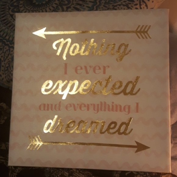 Nothing I Expected & Everything I Dreamed Canvas